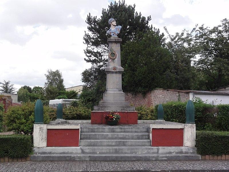 Tugny-et-Pont (Aisne) monument aux morts