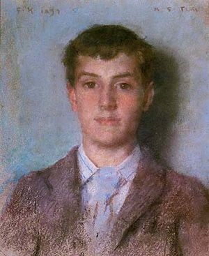 Lord Ronald Gower - Gower's lover Frank Hird, painted by Henry Scott Tuke.