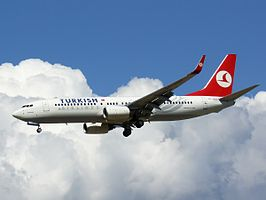 Een Boeing 737 van Turkish Airlines