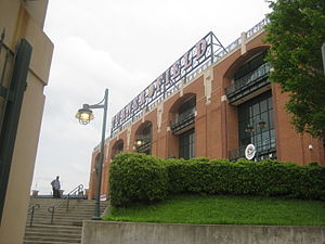 1997 Atlanta Braves season - Turner Field exterior from Ralph David Abernathy Boulevard