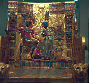 Grave goods - The gilded throne of Pharaoh Tutankhamun is but one of the treasures found within his tomb.