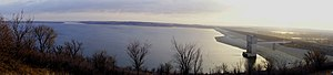 Tuttle Creek Lake - Tuttle Creek Lake near the dam.