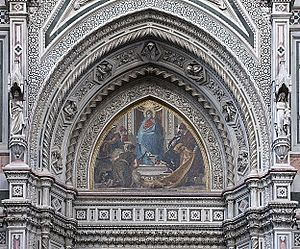 Nicolò Barabino - Mosaic Right Tympanum of Cathedral of Florence