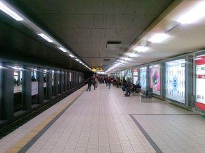 Neumarkt (KVB) - Northbound platform of the underground station