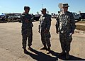 U.S. Army Capt. David Jordan, left, a chaplain with Alpha Company, 1st Battalion, 279th Infantry Regiment, talks with Spc. Joey Agular, center, and Pvt. Matthew Werger, both with the 45th Infantry Division 130522-Z-TK779-005.jpg
