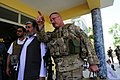U.S. Army Lt. Col. Anthony Ulrich, right, the Farah Provincial Reconstruction Team (PRT) civil affairs commander, discusses security with Afghan officials in Farah city, Farah province, Afghanistan, Aug. 29 120829-N-II659-1638.jpg