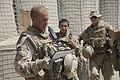 U.S. Marine Corps Staff Sgt. Jason Black, an infantry unit leader with Jump Platoon, 1st Battalion, 5th Marine Regiment, conducts a convoy brief at Patrol Base Jaker in Nawa district, Helmand province 090822-M-ZU432-109.jpg