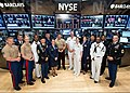 U.S. Service members pose for a photo after ringing the closing bell at the New York Stock Exchange in New York May 24, 2013 130524-O-ZZ999-002.jpg