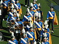 UCLA Band en route to field at UCLA at Cal 10-25-08 3.JPG