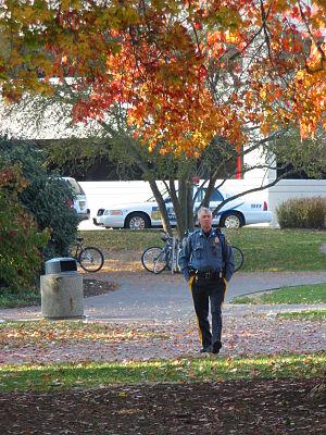 University of Delaware Police officer on foot