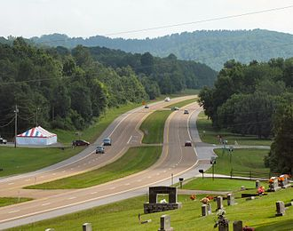 U.S. Route 27 in Tennessee - US 27 at its intersection with SR 303, in Rhea County near Graysville
