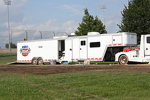 United States Auto Club - USAC trailer at a TORC event