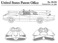 The 1966 television Batmobile was built by George Barris from a Lincoln Futura concept car.