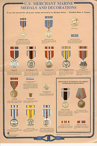 Awards and decorations of the United States Merchant Marine - Medals and Decorations of the United States Merchant Marine