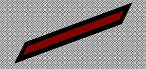 Service stripe - U.S. Navy service stripe, red.