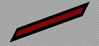 Service stripe - U.S. Navy service stripe, red.