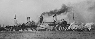 SS Leviathan - USS Leviathan in dazzle camouflage