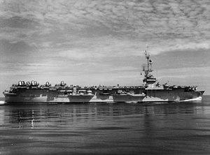 USS Sicily off Korea in April 1954