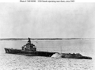 Japanese escort ship Okinawa - USS Snook (SS-279) in 1943