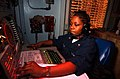 US Navy 030214-N-1350S-011 Operations Specialist 3rd Class Natasha Whiteside tracks contacts in the Tactical Operations Plot room.jpg