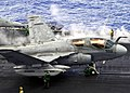 US Navy 030520-N-0295M-002 An EA-6B Prowler unfolds its wings on the flight deck of USS Constellation (CV 64) in preparation for launching from one of four steam power catapults.jpg