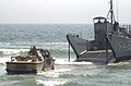 US Navy 030710-N-3874J-004 A Lighter Amphibious Re-supply Cargo (LARC) vehicle drives into the waves.jpg