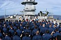 US Navy 031112-N-8955H-030 USS Blue Ridge and Commander, 7th Fleet, Sailors stand at parade rest during a Veterans Day ceremony held aboard the 7th Fleet command ship.jpg