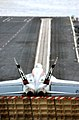 US Navy 040701-N-5549O-073 An F-A-18E Super Hornet assigned to the Tophatters of Strike Fighter Squadron One Four (VFA-14) prepares for launch aboard USS Ronald Reagan (CVN 76).jpg