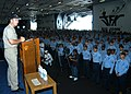 US Navy 050818-N-8704K-001 Chief of Naval Operations (CNO) Adm. Mike Mullen holds an all hands call for enlisted Sailors of Naval Station Mayport.jpg