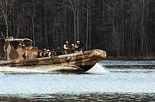 US Navy 070123-N-5758H-150 Sailors assigned to Riverine Squadron One (RIVRON-1), based at Naval Amphibious Base Little Creek, train aboard Small Unit River Craft (SURC), during a unit-level training exercise.jpg