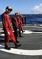 US Navy 090115-N-9758L-563 Sailors conduct a foreign object damage walk down.jpg