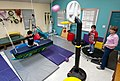 US Navy 100306-N-5319A-069 Ten-year-old Joseph Camano, left, exercises on a swing during a routine physical therapy session at the Diane Epplein ^ Assoc. Pediatric Therapy facility gymnasium while fellow patient nine-year-old L.jpg