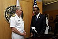 US Navy 100430-N-8273J-189 Adm. Gary Roughead speaks with Dr. James Ammons.jpg
