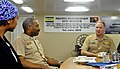 US Navy 110726-N-ZZ999-007 Adm. Patrick M. Walsh, commander of U.S. Pacific Fleet, talks with Capt. Jesse A. Wilson, mission commander of Pacific P.jpg