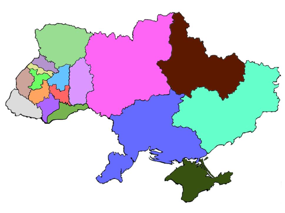 Ukraine eparchies