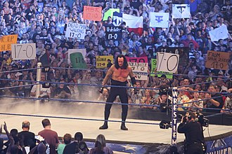 The Streak (wrestling) - The Undertaker after defeating Shawn Michaels at WrestleMania XXV