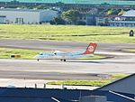 Uni Air B-15219 Moving to Songshan Airport Apron 20120902.jpg