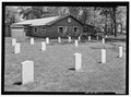 VIEW OF CONFEDERATE HEADSTONES. VIEW TO NORTHEAST. - Confederate Stockade Cemetery, Johnson's Island, Sandusky, Erie County, OH HALS OH-1-11.tif
