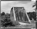 VIEW OF NORTHERN PORTAL - North Carolina Route 126 Bridge, Spanning Lake James Canal, Linville, Burke County, NC HAER NC,12-MAR.V,1-3.tif