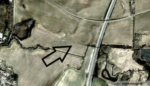 Borrering -  Aerial view of Borrering. Post-edited satellite photo.