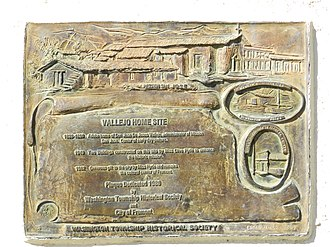 Fremont, California - Vallejo Home memorial plaque