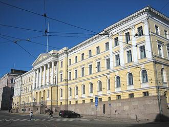Senate of Finland - The Senate building at the Senate Square in central Helsinki