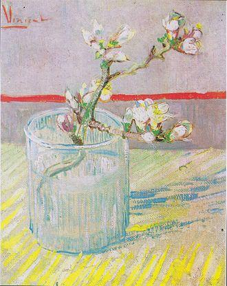Almond Blossoms - Image: Van Gogh Blühender Mandelbaumzweig in einem Glas