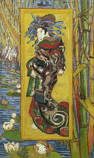 La princesse jaune - Van Gogh - La courtisane (after Eisen), 1887.