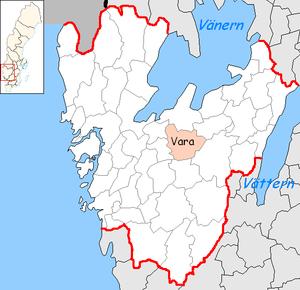 Vara Municipality - Image: Vara Municipality in Västra Götaland County