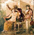 Vecchio Satiro e Ermafrodito. Pompei (IX, 1,22), Casa di Epidio Sabino, tablino 50-75 d.C. National Archaeological Museum, Naples..jpg