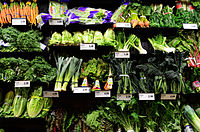 Vegetables at a supermarket