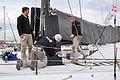 Vendée Globe 2012-2013 Mike Golding Gamesa préparation du bateau.JPG