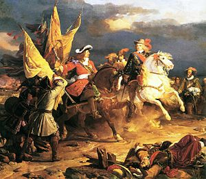 Louis Joseph, Duke of Vendôme - Vendôme (left) at the Battle of Villaviciosa