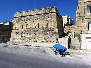 Vendôme Tower - Image: Vendome Redoubt (1715) in Marsaxlokk, Malta